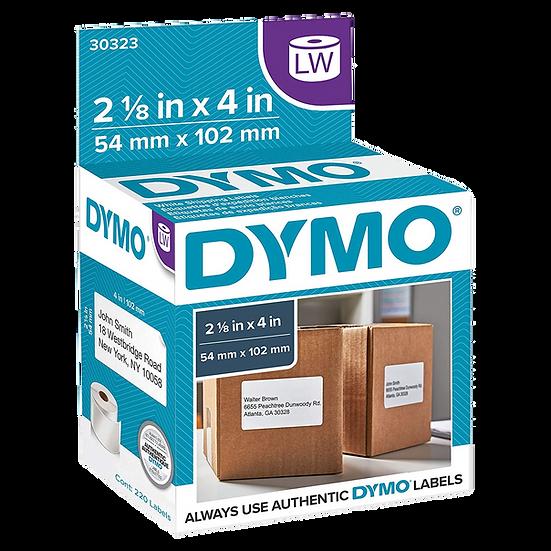 DYMO 30323   Rollo de 220 Etiquetas de 102x54mm para Dymo 450