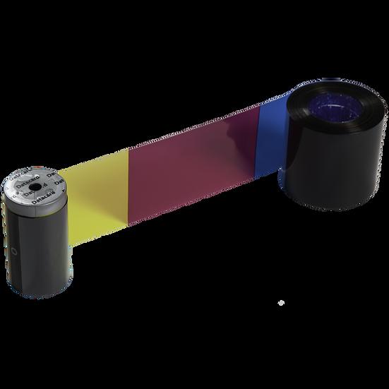 535000-011 DATACARD   Ribbon Fluorescente 300 Impresiones   YMCKFT CD800 CP80