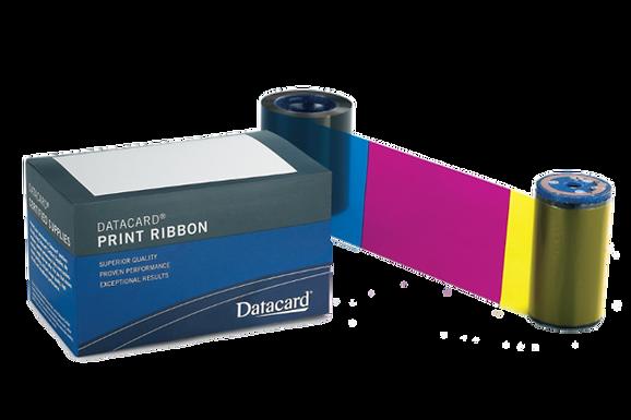 535000-004 DATACARD | Ribbon Color de 650 Impresiones ymcKT Panel Corto