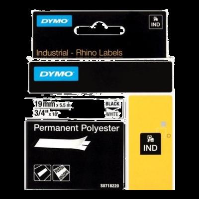 DYMO Industrial Rhino 18484 Poliester Permanente 19mmx 5,5m Negro/Blanco