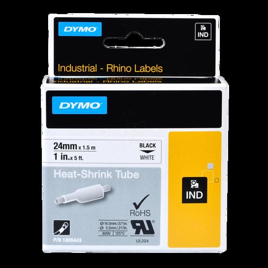 DYMO Industrial Rhino 1805443 Tubo Termo Encogible 24mm x 1,52m Negro/Blanco