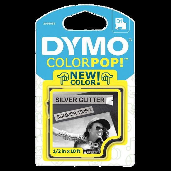 2056085 Cartucho ColorPOP Negro/Plata con Purpurina Cinta Plástica 12mm x 3m