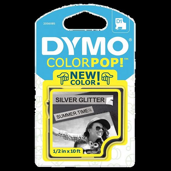 2056085 Cartucho ColorPOP Negro/Plateado Cinta Plástica 12mm x 3m