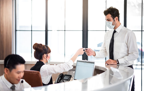Reception Counter Services with Customer