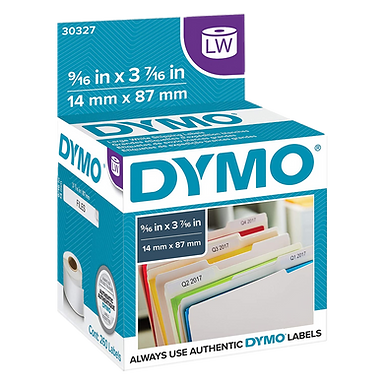 DYMO 30327 | Rollo de 130 Etiquetas de 87x14mm Identificar Carpetas | Dymo 450