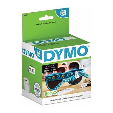 DYMO 30299 Rollo de 1500 Etiquetas Térmicas Joyería de 10x19mm 2up para Dymo 450