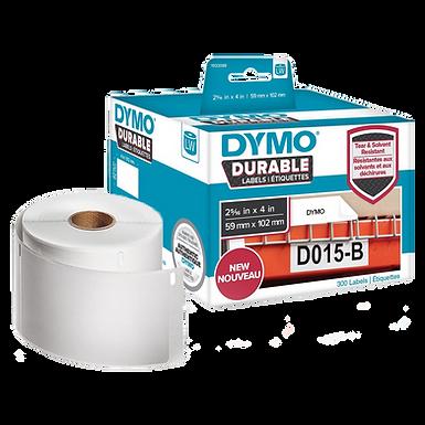 1933088 DURABLE | Caja por 300 Etiquetas de 59x102mm | Dymo 450 Industrial