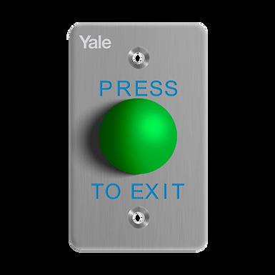 YALE Botón de Salida Verde Tipo Hongo pequeño Presione Para Salir