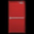 Puerta Corta Fuego Roja con Barra Anti Pánico Orlando y Brazo Cierra Puertas Cetificadas UL