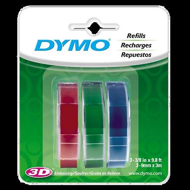DYMO Organizer Express 1741671 Combo de 3 Cintas de 9mmx3m Rojo Verde y Azul