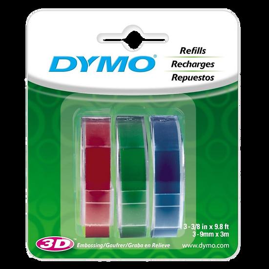 Dymo Organizer Express 1741671   9mmx3mx3 Rollos    Rojo Verde y Azul