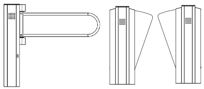 Combo de Pasillo Peatonal con Puerta de Discapacitados PHOTONIC 6500
