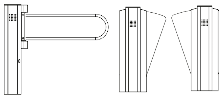 Combo de Pasillo Peatonal con Puerta de Discapacitados PHOTONIC