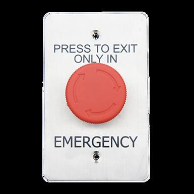 Botón de Evacuación   Presione para Desactivar Sistema,  Gire para Restablecer