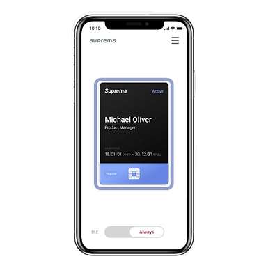 3 Credenciales MC-REGULAR-CR Mobile Card Suprema Compatibles BioStar2 AC