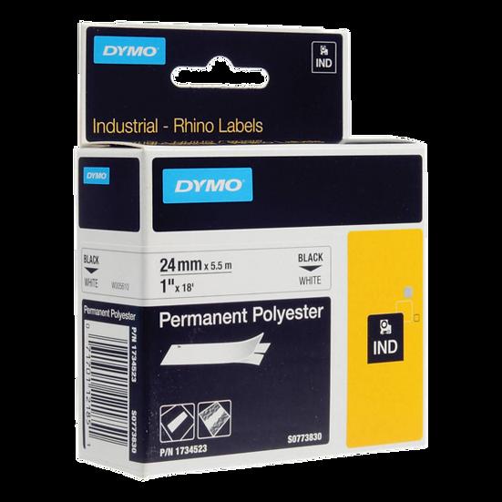 DYMO Industrial Rhino 1734523 Poliester Permanente 24mm x 3,5m Negro/Blanco