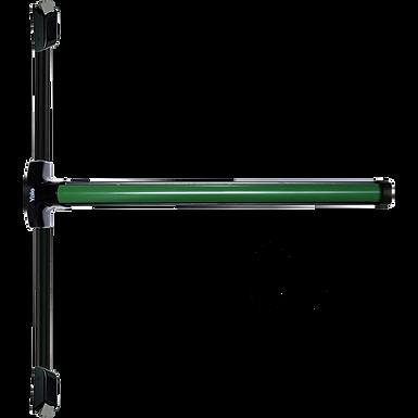 Barra anti pánico verde tipo push UL 100cm puerta sencilla 2 Puntos | YALE MIAMI
