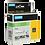 Thumbnail: DYMO Industrial Rhino 1805420 Cinta de Vinilo 19mm x 5,5m Blanco/Verde
