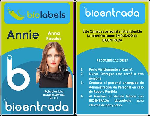 Impresión de Más de 100 Carnets Estándar a 2 Caras a Full Color | BioLabels
