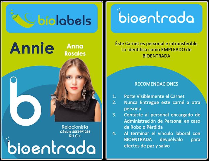 Impresión de 11 a 50 Carnets Estándar a 2 Caras a Full Color | BioLabels