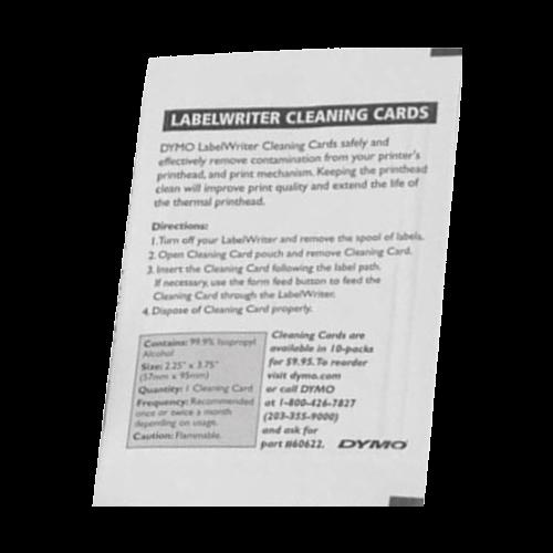 LW 60622 CLEANING CARD Tarjeta de limpieza para Impresoras Térmicas Dymo, Brother y Datacard.