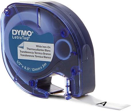 Dymo LetraTag 18771 Cinta de Adhesión Planchado, Impresión sobre Ropa 12mmx2m