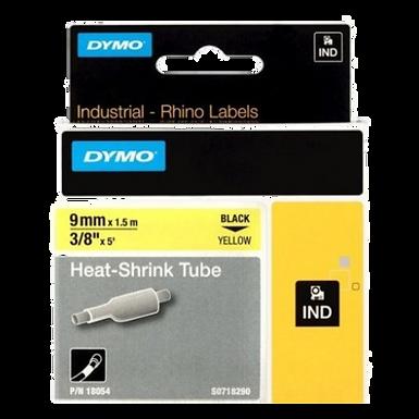 DYMO Rhino Industrial 18054 Tubo Termo Retractil 9mm x 1,52m Negro/Amarillo