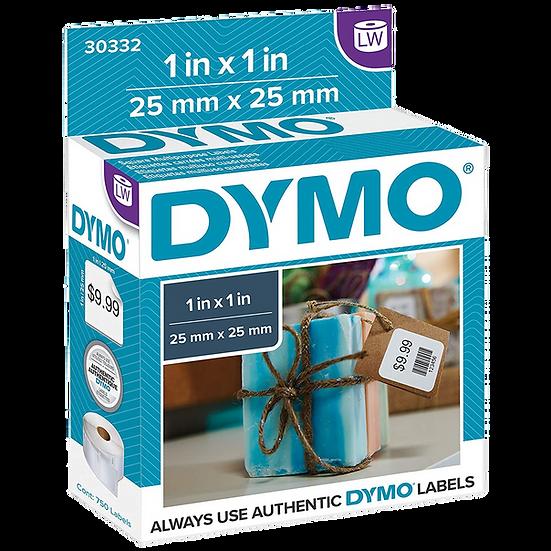 DYMO 30332   Rollo de 750 Etiquetas de Precios de 25x25mm   Imprime en Dymo 450