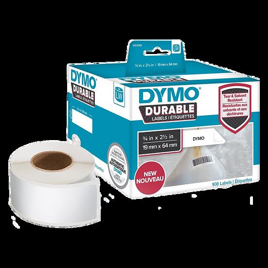 1933085 DURABLE Poliéster | Caja 900 Etiquetas de 19x64mm | Dymo 450 Industrial