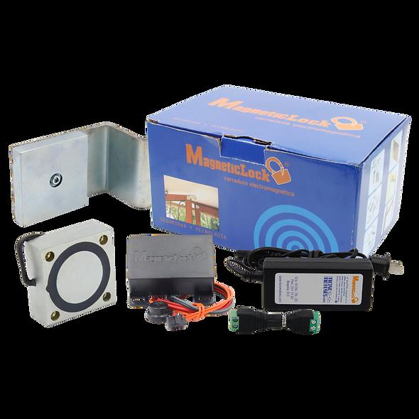 Magneticlock, Electroimán Cuadrado Todo en Uno de 400 lb con Soporte en Z Fijo | MLC350
