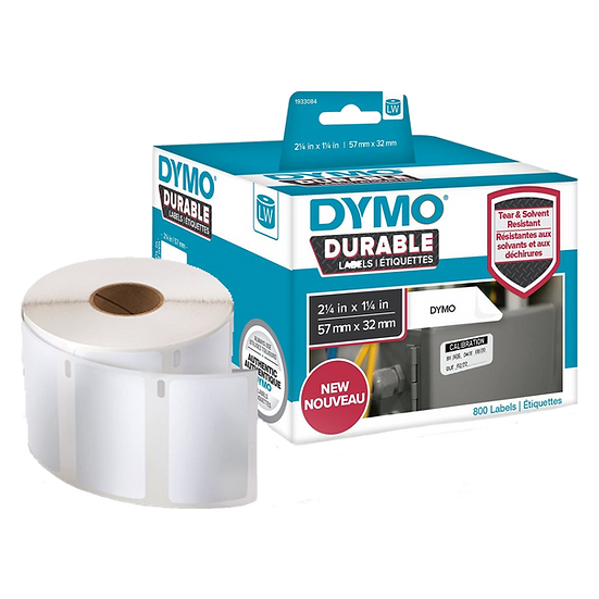 1933084 DURABLE | Caja de 800 Etiquetas de 57x32mm | Dymo 450 Industrial