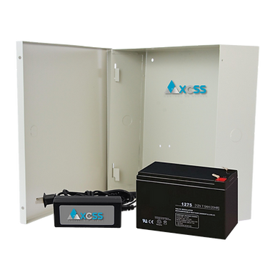 AXCSS Kit de Fuente para Electroiman 12VDC, Respaldo por 8 o más Horas