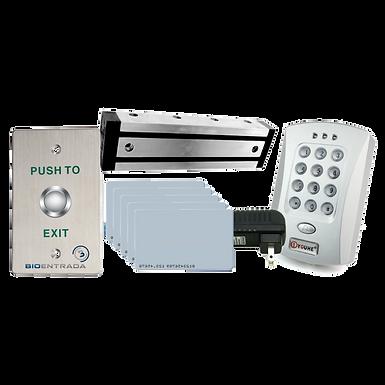 Kit Acceso Básico Lector, Botón, 5 Tarjetas, Electroiman 600 Lb