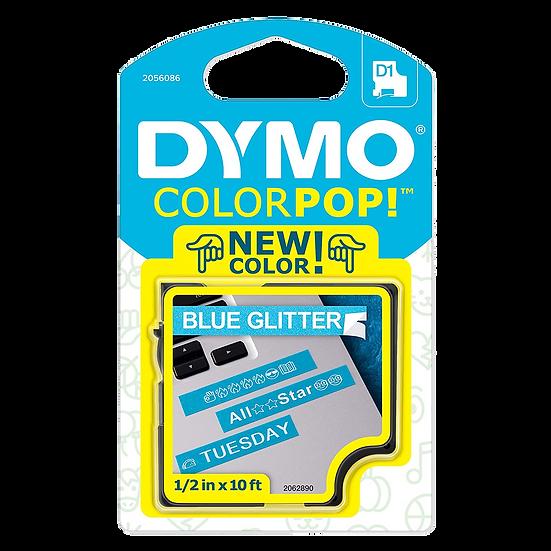 2056086 Cartucho ColorPOP Negro/Azul con Purpurina Cinta Plástica 12mm x 3m