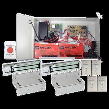 Kit de Esclusa Completa para Control de 2 Puertas con Electroimanes