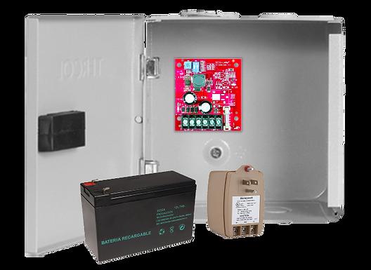 Kit Power 12VDC Seco-Larm. 2406-2AQ Caja Metalica, Transformador y Batería