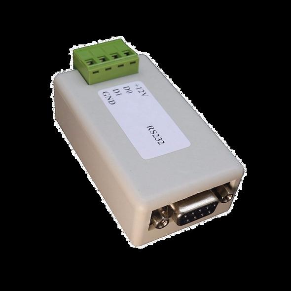 RS232/WGND Conversor Puerto Serial a Comunicación Wiegand para Control de Acceso