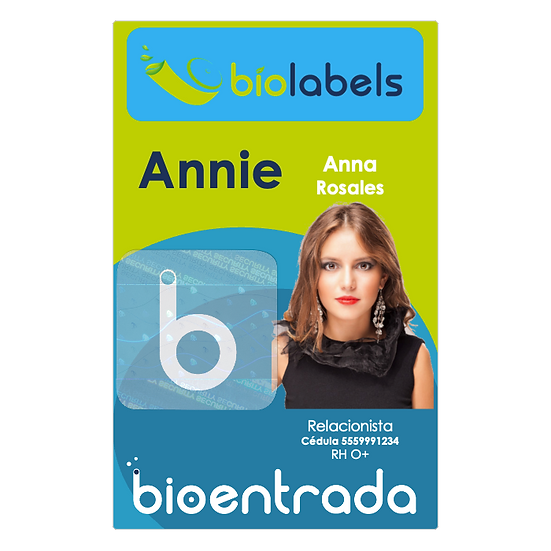 Impresión de 1 a 10 Carnets con Holograma 1 Cara a Full Color | BioLabels