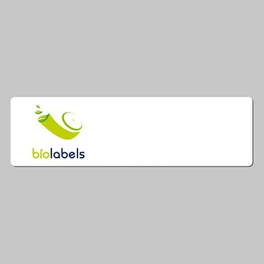 BL-30252PI | 35000 Etiquetas Pre Impresas con Logo Full Color 28x89mm