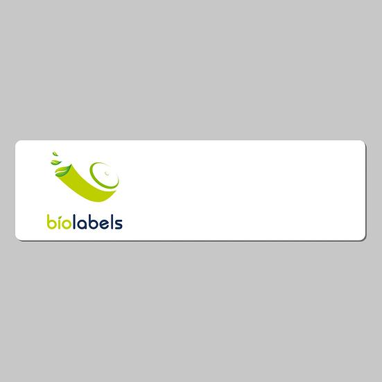 BL-30252PI   35000 Etiquetas Pre Impresas con Logo Full Color 28x89mm
