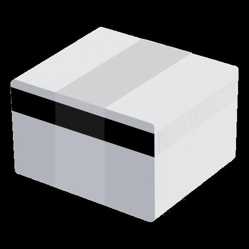 DATACARD | Paquete de 500 Tarjetas PVC Blancas Calibre 30 Con Banda para Carnet