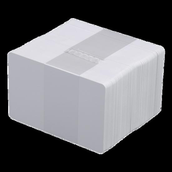 DATACARD   Paquete de 100 Tarjetas PVC Blancas Calibre 30 para Carnet