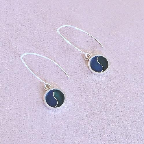 Sterling silver enamel earrings