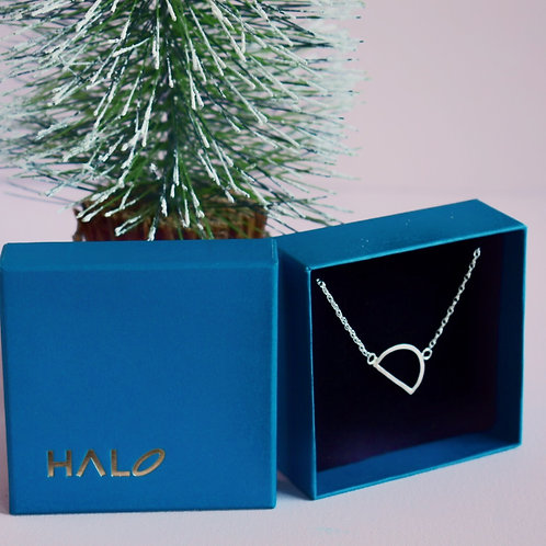 Sterling Silver Initial D Necklace - Tilted Letter
