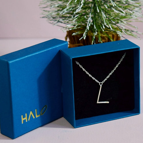 Sterling Silver Initial L Necklace