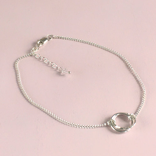 Halo Collection - Interlocking Circles Anklet