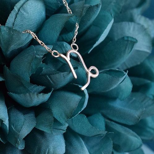 Sterling Silver Zodiac Necklace, Capricorn