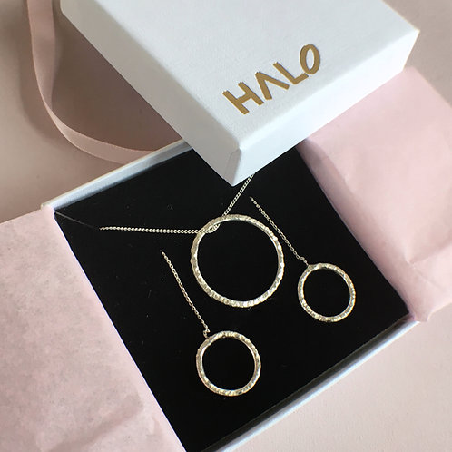 Textured Necklace and Threader Gift Set