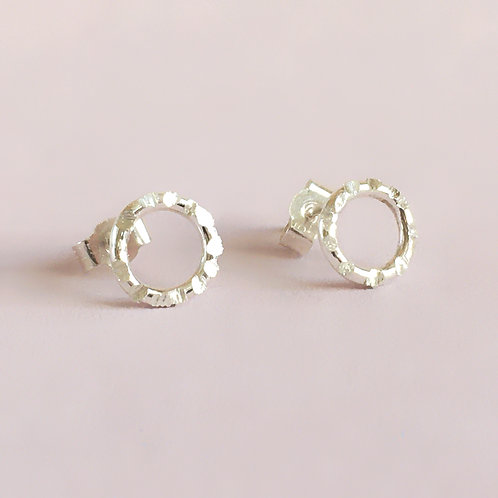 Halo Collection - Textured Circle Studs