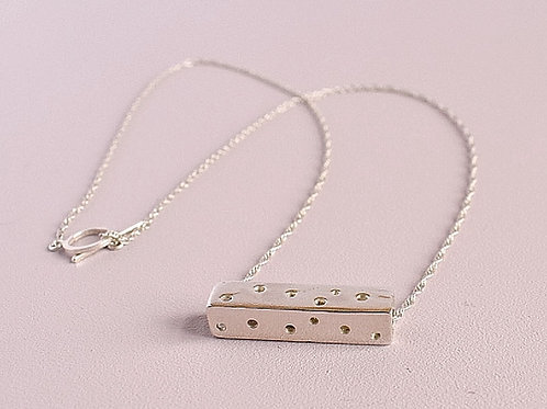 Sterling Silver Bar Pendant - Horizontal